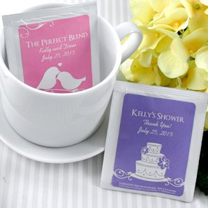 Personalized Tea Bag Favors (Many Designs) image