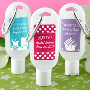 Personalized Silhouette Hand Sanitizer with Carabiner image