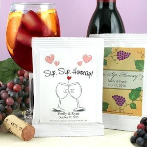 Personalized Wedding Sangria Party Favors - Many Designs image