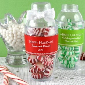 Personalized Holiday Cocktail Shaker Favor image