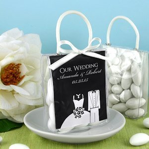Personalized Silhouette Mini Gift Favor Totes image