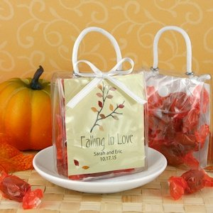 Falling in Love Personalized Mini Gift Tote Favors image
