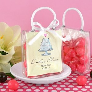 Bridal Shower Personalized Mini Gift Tote Favors image