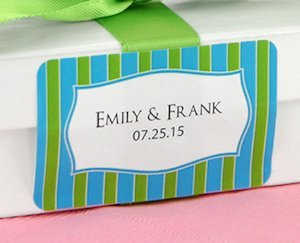 Personalized 2x1 Rectangle Favor Label (Many Designs) image