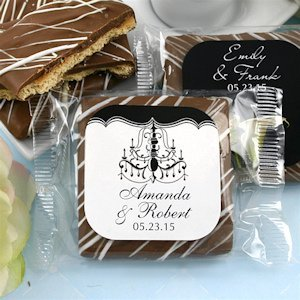 Personalized Chocolate Graham Cracker Favors image