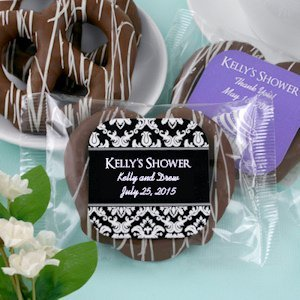 Edible Bridal Shower Chocolate Pretzel Favors image