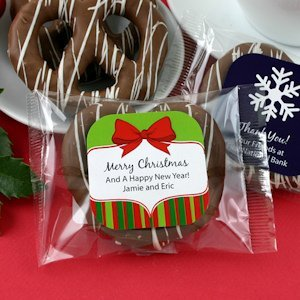 Holiday Gourmet Chocolate Pretzel Favors (Many Designs) image