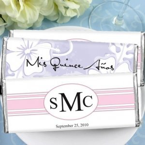 Personalized Quinceanera Favor Chocolate Bars image
