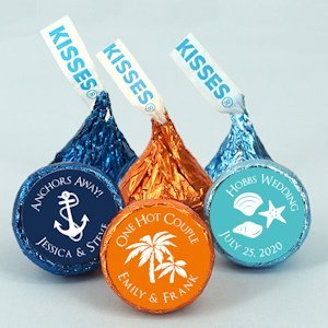 Personalized Hershey Kisses Wedding Favors (Many Designs) image