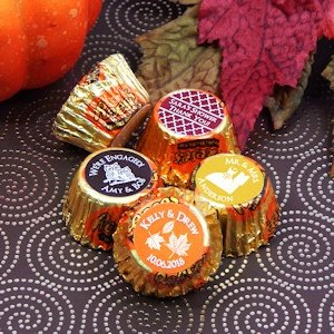 Personalized Autumn Silhouette Peanut Butter Cup Favors image