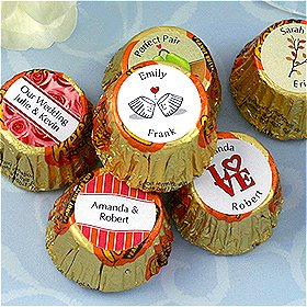 Personalized Wedding Peanut Butter Cups (Many Designs) image