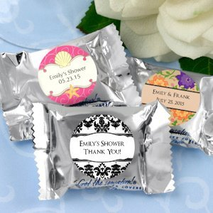 Personalized Peppermint Patty Bridal Shower Candy Favors image
