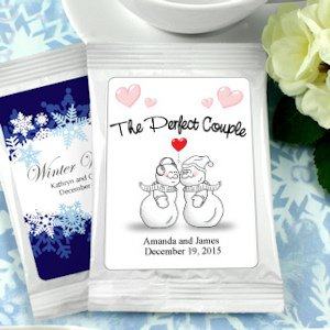 Winter Wedding Personalized Cappuccino Favors image