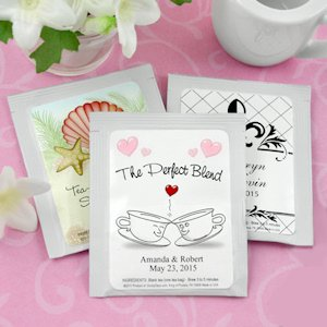 Personalized Tea Wedding Favors (Many Designs) image