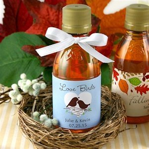 Personalized Maple Syrup Wedding Favors (Many Designs) image