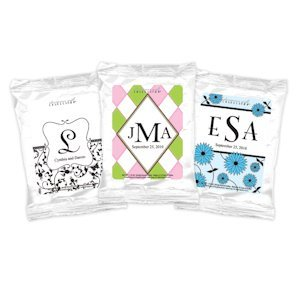 Monogrammed Coffee Party Favors - White (Many Designs) image