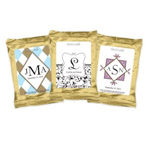 Monogrammed Coffee Favors - Gold (Many Designs) image