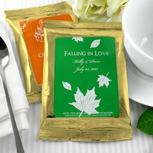 Gold Personalized Wedding Coffee Favor Bags (Many Designs) image