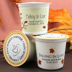 Personalized Fall K-Cup Coffee Favors (Many Designs) image