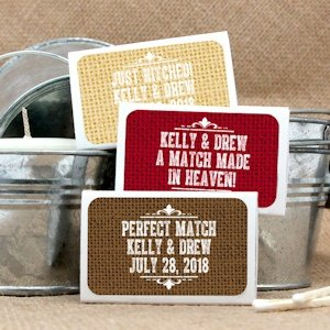 Personalized Rustic Matchbox Wedding Favors (Set of 50) image