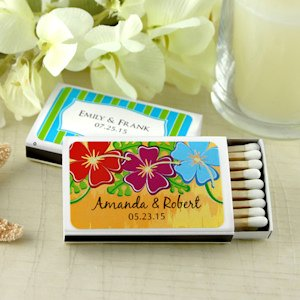 Personalized Beach Wedding Favor Matches (Set of 50) image