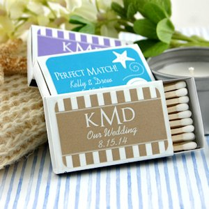 Personalized Matchbox Beach Wedding Party Favors (Set of 50) image