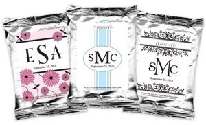 Monogrammed Coffee Favors - Silver (Many Designs) image