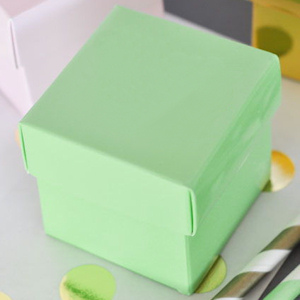 Mint Green Mini Favor Boxes (Set of 12) image