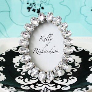 Antique Jeweled Place Card Frame image