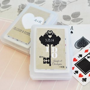 Vintage Wedding Personalized Playing Card Favors image