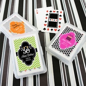 Personalized Birthday Playing Card Favors image