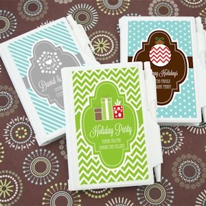 Winter Holiday Personalized Notebook Favors image