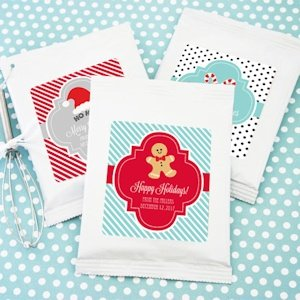 Winter Holiday Personalized Hot Cocoa Favors image