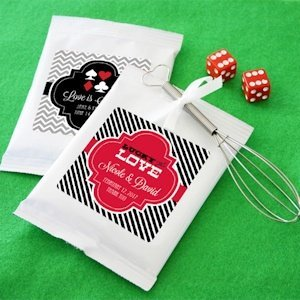 Lucky Pair Vegas Themed Personalized Hot Cocoa Favors image