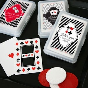 Lucky Pair Vegas Themed Playing Card Favors image