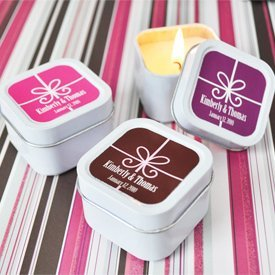 Gift Box Design Personalized Candle Tins image