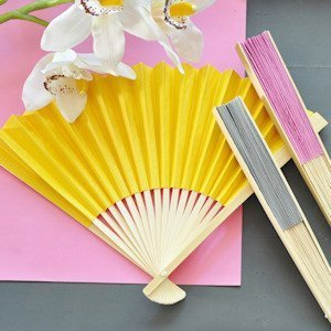 Colored Paper Hand Fans (Many Colors) image