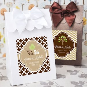 Personalized Fall Candy Shoppe Favor Boxes (Set of 12) image
