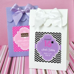 Sweet 16 or 15 Personalized Candy Shoppe Favor Boxes image