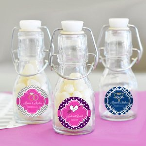 Personalized Theme Mini Glass Bottle Favors image