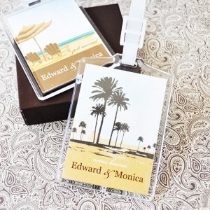 Personalized Wedding Favor Luggage Tags - Elite Designs image
