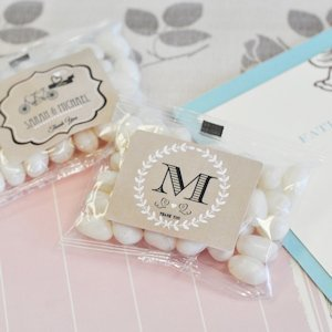 Vintage Wedding Personalized Jelly Bean Packs image