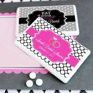 Personalized Mini Wedding Favor Mints (Many Designs) image