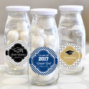 'Hats off to You' Personalized Graduation Milk Bottles image