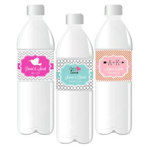 Water Bottle Labels for Weddings image