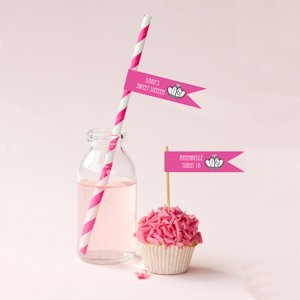 Personalized Sweet Sixteen (or 15) Flag Labels image