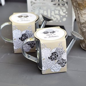 Mini Watering Can Planting Kit Wedding Favors image