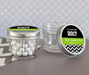Graduation Themed Mini Mason Jars - 4 oz. image