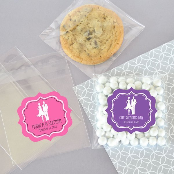 Wedding Favor Net Bags : Personalized Candy Wedding Favor Bags (Set of 24)