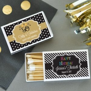 Personalized Birthday Match Boxes (Set of 50) image
